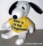 Snoopy wearing t-shirt