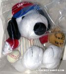 Snoopy baseball uniform Plush