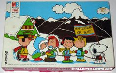 Peanuts Gang in Mountains 'Matterhorn or Bust' Puzzle