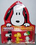 Snoopy Mini Walkers Set - Flying Ace, Tuxedo & Woodstock