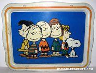 Peanuts Gang standing Metal Lap Tray