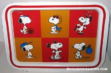 Snoopy Multi-poses Metal Lap Tray
