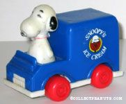 Snoopy's Ice Cream Truck Push N Pull Car