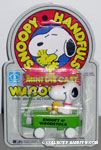 Snoopy & Woodstock in Green Wagon