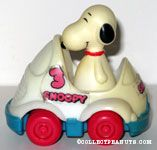 Snoopy in White Racecar