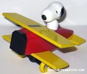 Snoopy in Wooden Bi-plane