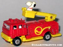 Snoopy in Fire Engine