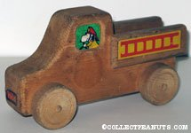 Snoopy Wooden Fire Truck