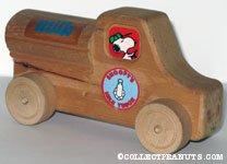 Snoopy's Milk Truck Wooden Car