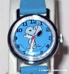 Snoopy Standing on Turquoise face and matching band Watch