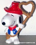 Cowboy Snoopy with Heart Lariat Valentine's PVC Figurine