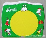 Snoopy & Woodstock Green & Yellow Christmas Figure Chocolate Box