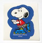 Snoopy Roller Skating Sticker from surprise tin