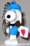 Postman Snoopy with Heart Card Valentine's PVC Keychain