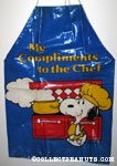 Chef Snoopy in front of stove 'My Compliments to the Chef' Apron