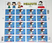 Snoopy Flying Ace Sheet of US Postal Stamps