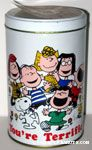 Peanuts Gang dancing 'You're Terrific!' Popcorn Tin