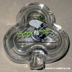 Snoopy Lawyer 'The Great Tradition' glass clover-shaped Trinket Box