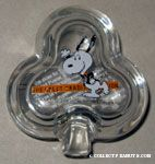 Snoopy dancing in Tux 'The Great Tradition' glass clover-shaped Trinket Box