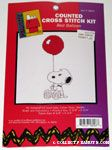 Snoopy holding red balloon Cross-stitch Kit