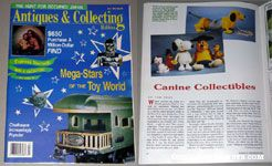 Antiques & Collecting Magazine feature Canine Collectibles