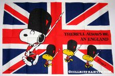 Snoopy & Woodstocks Beefeater Guards 'There will always be an England' British Flag