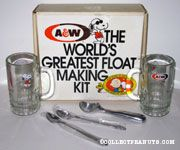 Peanuts 40th Anniversary A&W Rootbeer The World's Greatest Float Making Kit