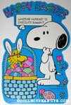 Snoopy looking at Woodstock in Easter Basket Press-out