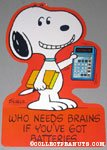 Snoopy holding Calculator Press-out