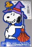 Snoopy as Witch with Woodstock Halloween Press-out