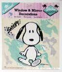 Snoopy Walking Static Stick-on Window Cling