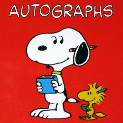 Click to view the Snoopy & Woodstock Autograph Book