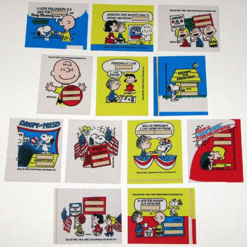 12 Peanuts Dolly Madison Election Stickers
