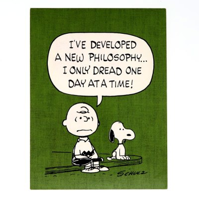 Charlie Brown & Snoopy '…Dread One Day at a Time' Post Card
