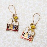 Snoopy & Woodstock on Love Earrings