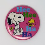 Snoopy and Woodstock laughing Mini Mirror