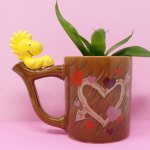 Woodstock on wood-style Planter Mug