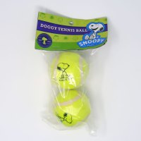 Snoopy sitting dog tennis balls