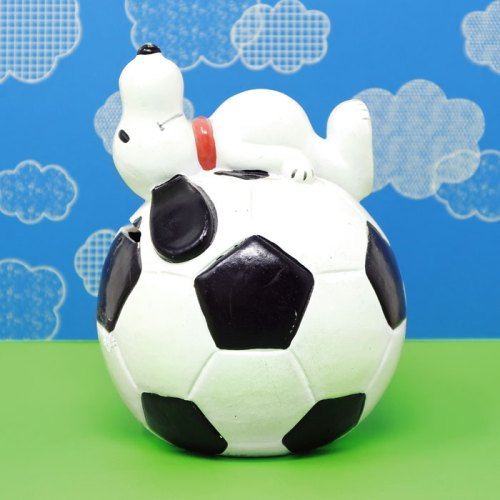 Snoopy on Soccer Ball Bank