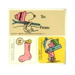 Snoopy, Woodstock And Linus Stickers & Gift Tag
