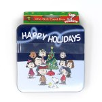 Peanuts Gang around Christmas Tree Gift Card Holder Box