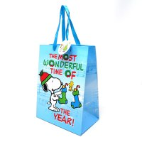 Snoopy & Woodstock with Stockings Gift Bag