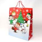 Peanuts Gang Dancing Around Christmas Tree Gift Bag