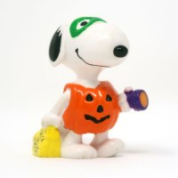 Snoopy dressed as pumpkin trick-r-treating Halloween PVC Figurine