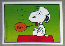 Snoopy Feeling Sick Sticker 63 Collectpeanutscom