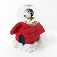 Snoopy Flying Ace on Doghouse Snowglobe Figurine