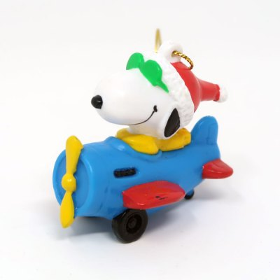 Snoopy Joe Cool in Blue Plane PVC Ornament