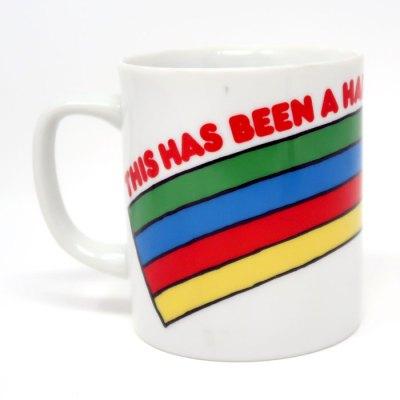 Snoopy Running with Rainbow Mug - Back
