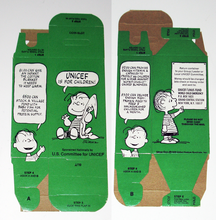 Linus UNICEF Donation Box