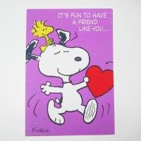 Snoopy & Woodstock Valentine's Day Card